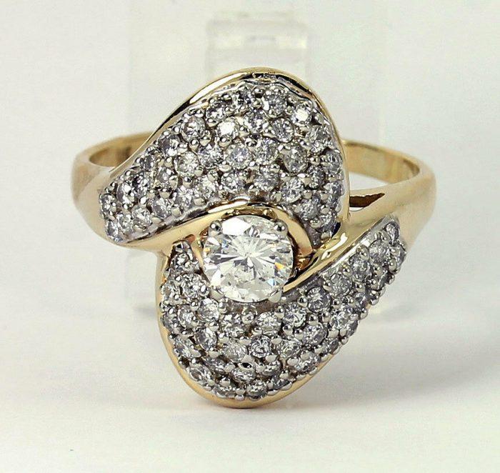 Diamond cocktail ring by Adina Jewelers