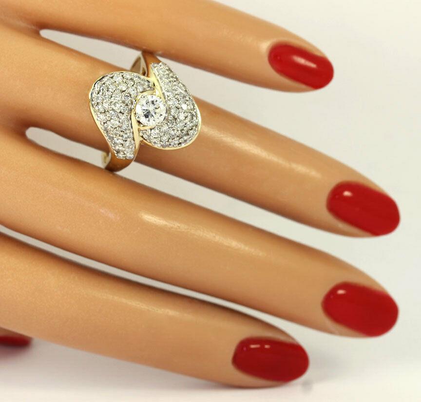 Diamond-gold-antique-cocktail ring