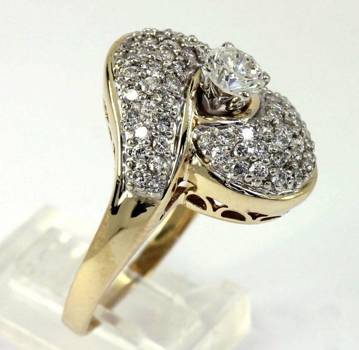 Diamond-gold-cocktail ring
