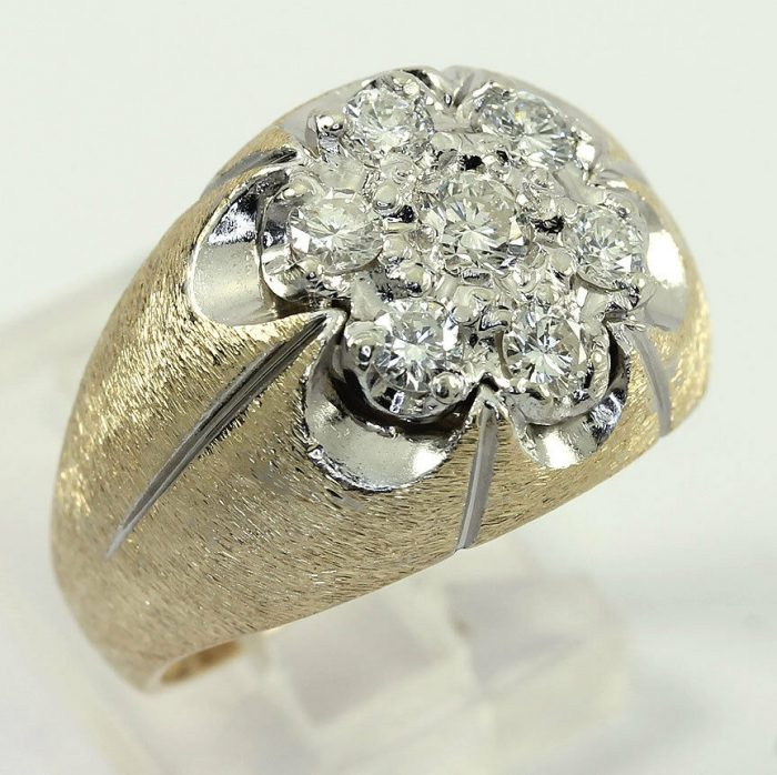 adina-jewelers-Diamond cluster Florentine ring