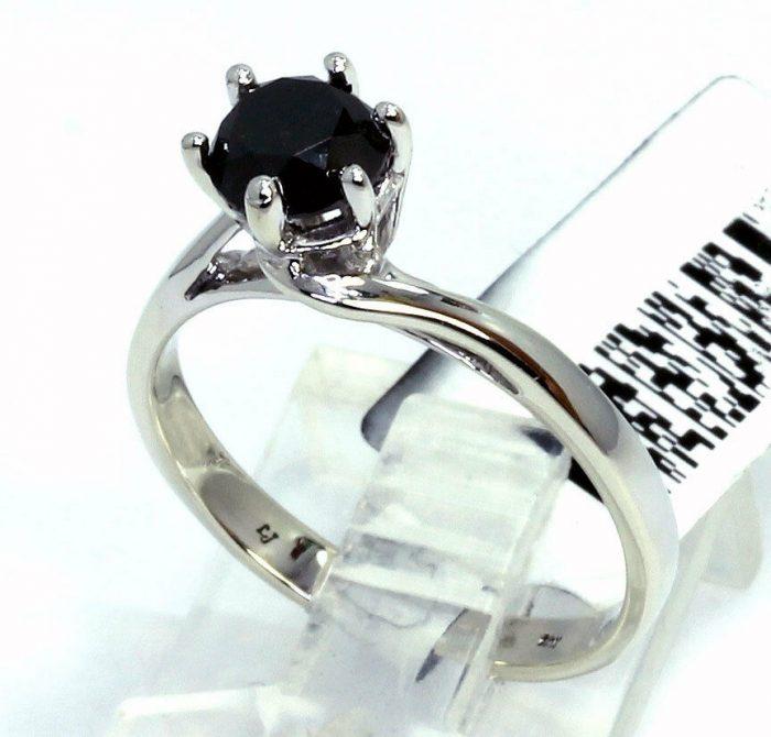 black diamond solitaire engagement ring