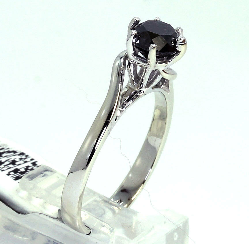 black diamond solitaire engagement ring-new-adina