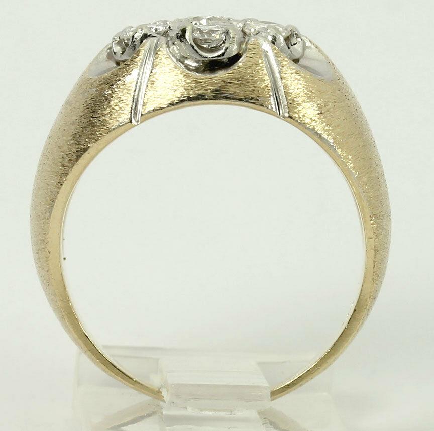 gold-Diamond cluster Florentine ring