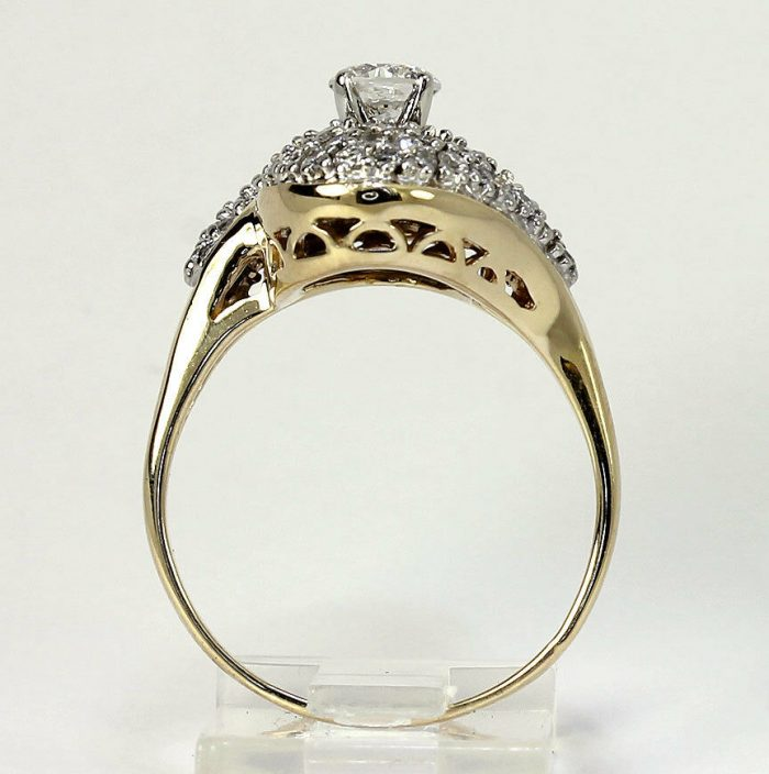 gold-Diamond cocktail ring