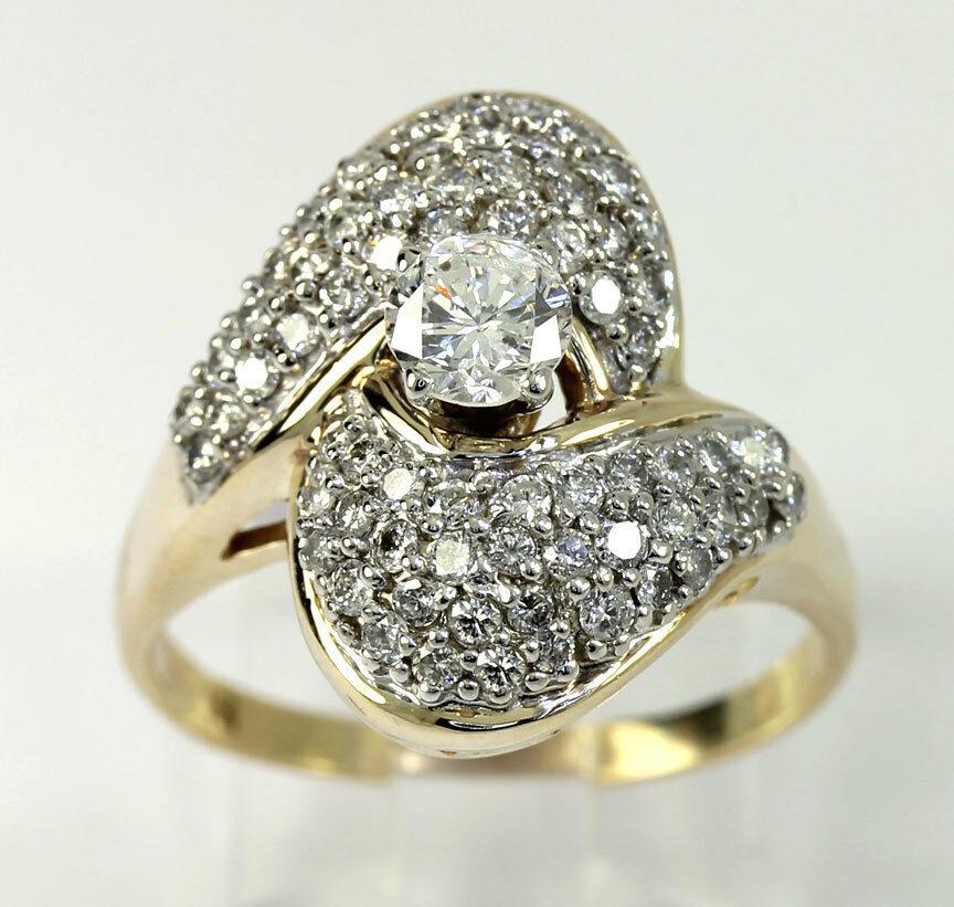 gold Diamond cocktail ring-adina