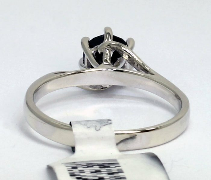 new-black diamond solitaire engagement ring-adina-jewelers